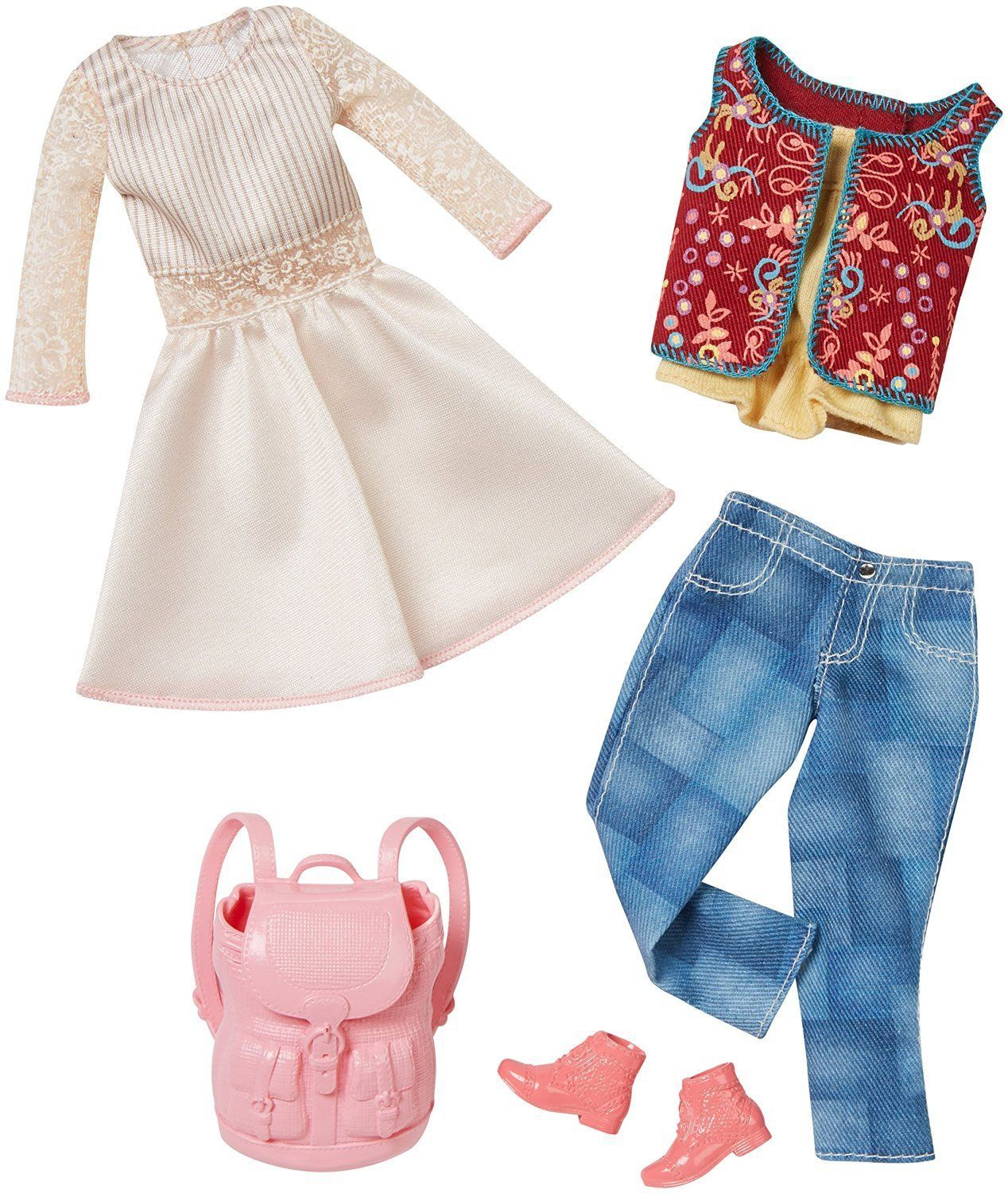 Barbie Doll Clothes 2 Pack Complete Look Fashions White