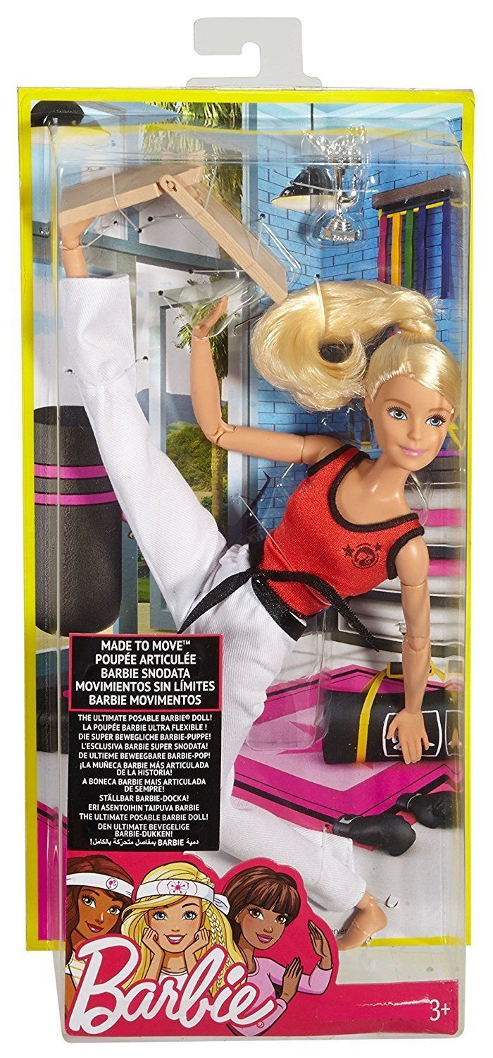 Barbie Doll Made To Move Fitness Martial Arts