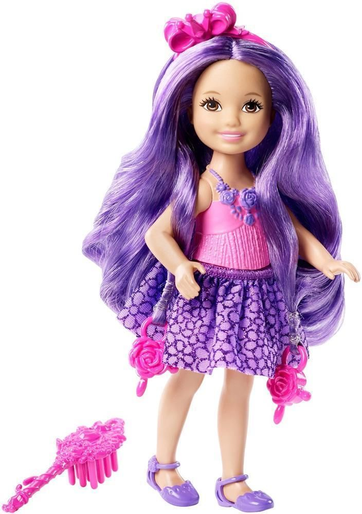 Barbie Endless Hair Kingdom Chelsea Junior Doll Purple Hair