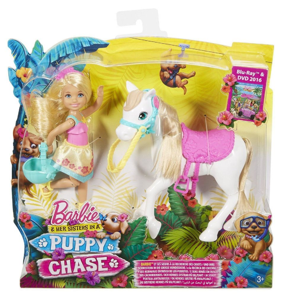 Riding Toys For Boys : Barbie her sisters in a puppy chase chelsea and pony