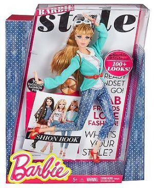 Barbie Style Doll Midge With Fashion Book