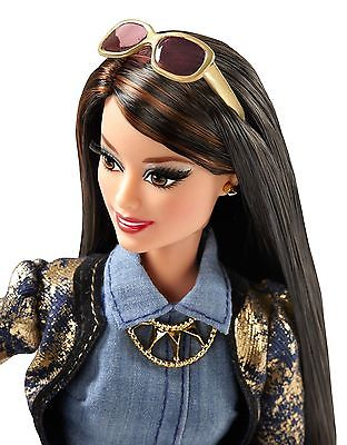 Barbie Style Doll Raquelle Metallic With Fashion Book