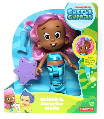 Bubble Guppies Molly Bath Doll Splash Amp Surprise