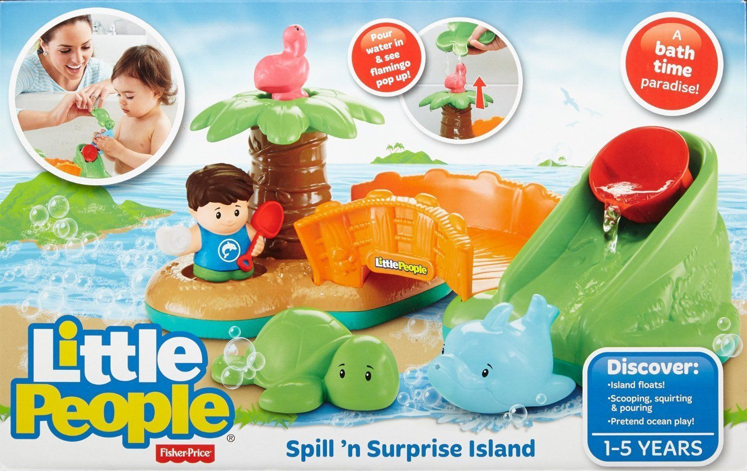 Fisher Price Little People Spill N Surprise Bath Island
