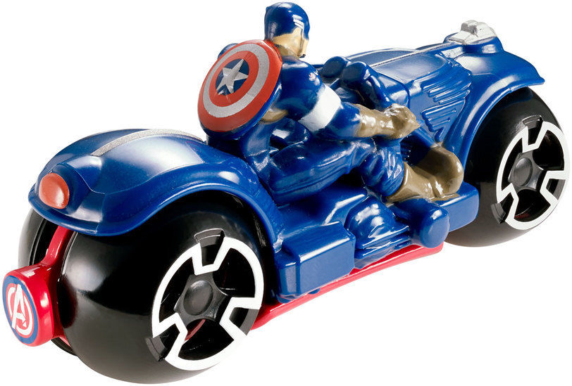 hot wheels marvel avengers age of ultron moto s captain america cycle. Black Bedroom Furniture Sets. Home Design Ideas