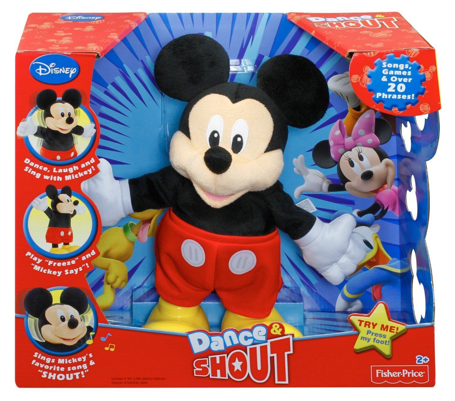 Best Mickey Mouse Toys : Mickey mouse clubhouse dance shout plush toy