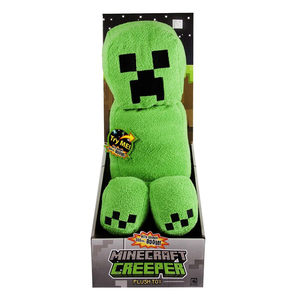 Walmart Minecraft Toys For Boys : Minecraft creeper large soft plush toy with sound