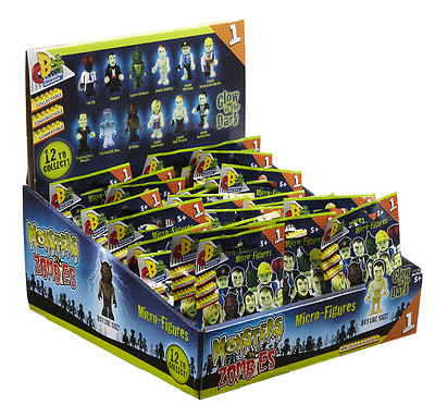 Monsters Vs Zombies Character Building Micro Figures X 5 Bags