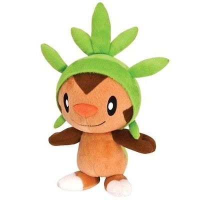 Squishy Pokemon X And Y : Pokemon Plush Soft Toy Chespin 8 Tomy - T18567 - X and Y Series