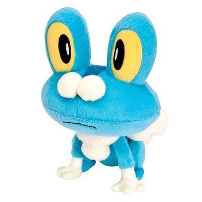 Squishy Pokemon X And Y : Pokemon Plush Soft Toy Froakie 8 Tomy - T18569 - X and Y Series