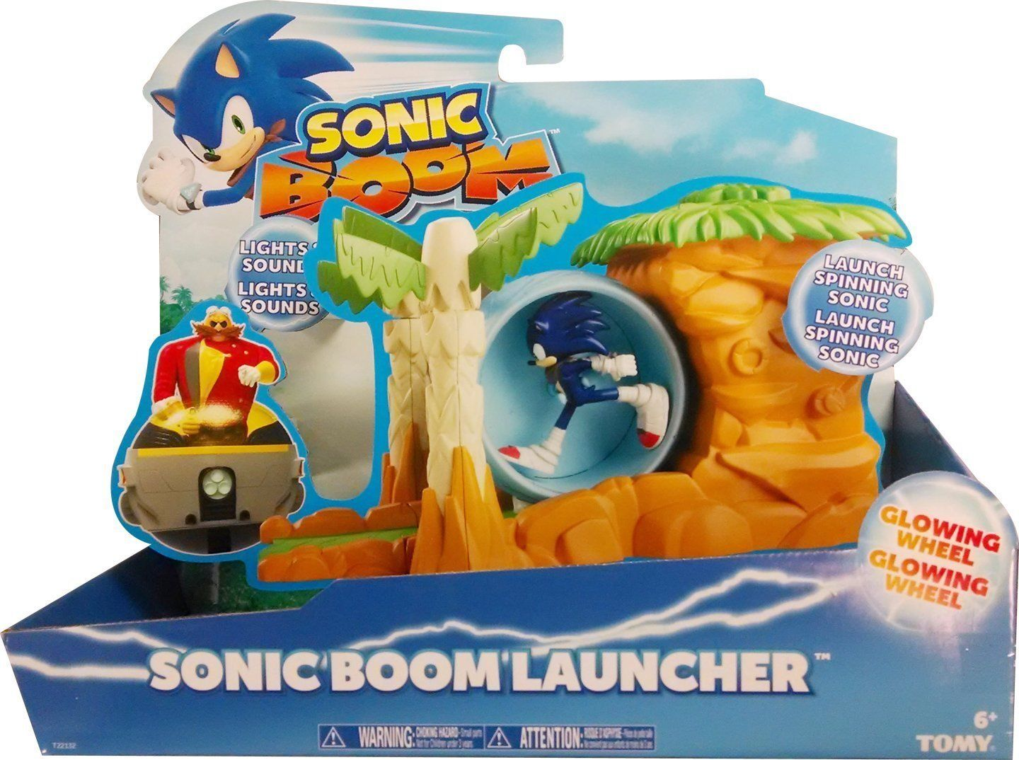 Target Sonic Toys : Sonic boom launcher with spinning