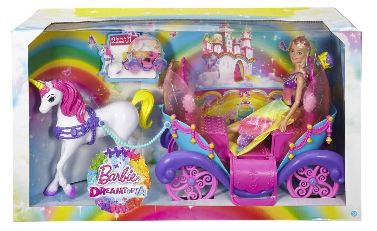 Barbie Dreamtopia Rainbow Cove Princess Doll Horse Amp Carriage