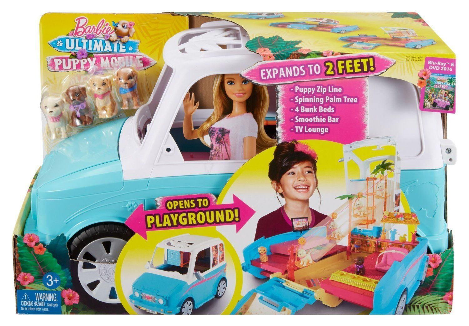 Barbie Amp Her Sisters In A Puppy Chase Ultimate Puppy Mobile