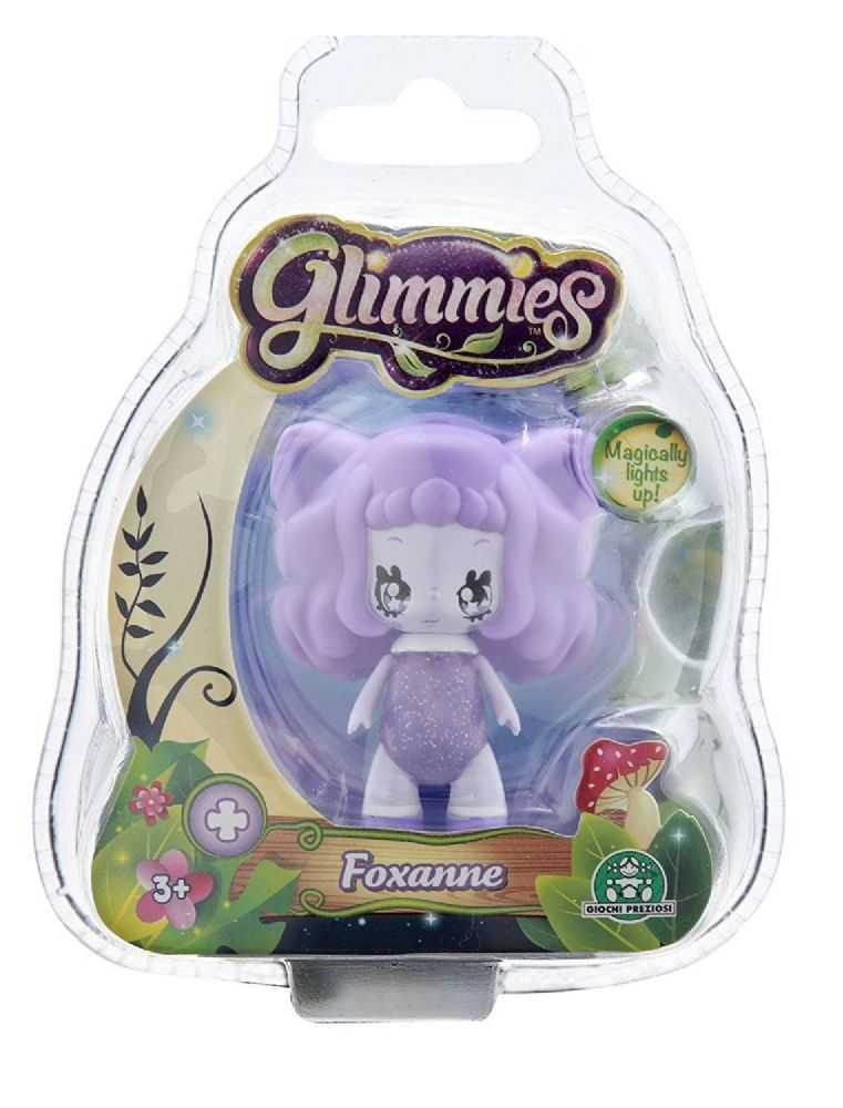 Single Blister Pack Glimmies Foxanne Purple Light-up in the Dark