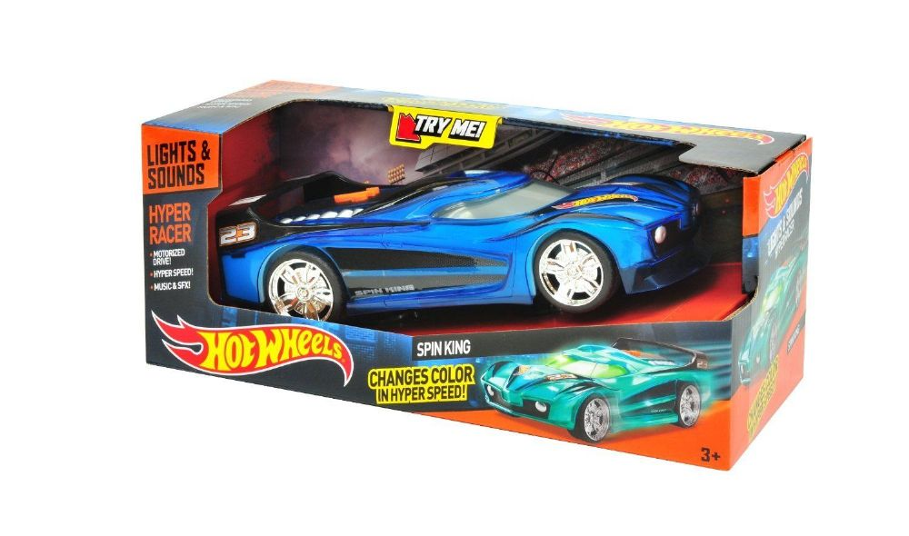 hot wheels - hyper racer - lights  u0026 sounds