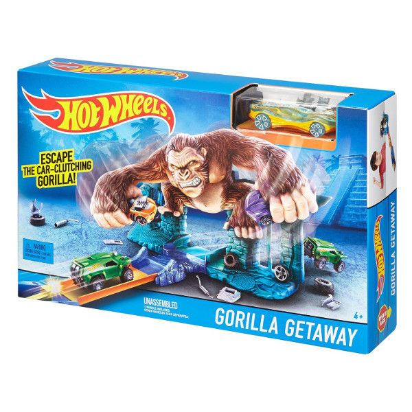 Hot Wheels Track Set Jump Amp Score Gorilla Getaway Playset