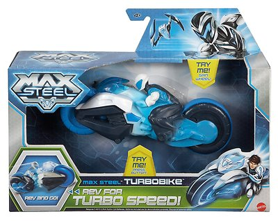 Max steel turbo bike with attached figure /& clignotants-Y1406-new